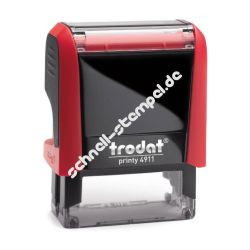 Roter Stempel Printy 4911 Entwurf
