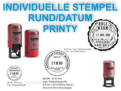 DATUMSTEMPEL INDIVIDUELL RUND PRINTY