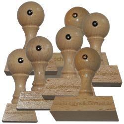 Holzstempel 30 mm • bis 70 mm Breite individuell gestalten
