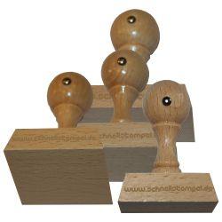 Holzstempel 50 mm • bis 80 mm Breite individuell gestalten