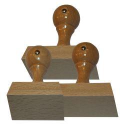 Holzstempel 55 mm • bis 80 mm Breite individuell gestalten