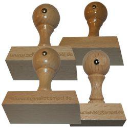 Holzstempel 60 mm • bis 100 mm Breite individuell gestalten