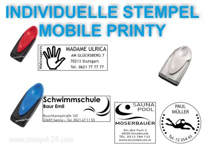 TEXTSTEMPEL INDIVIDUELL GESTALTEN MOBILE PRINTY