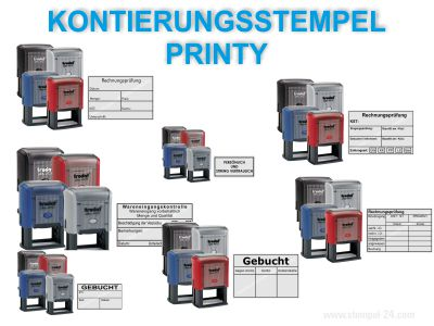 Printy Kontierungstempel mit fertigen Text