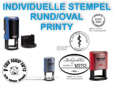 TEXTSTEMPEL RUND / OVAL INDIVIDUELL PRINTY
