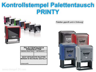 KONTROLL-STEMPEL PALETTENTAUSCH WARENAUSGANG PRINTY