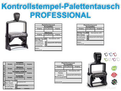 KONTROLL-STEMPEL PALETTENTAUSCH WARENAUSGANG PROFESSIONAL
