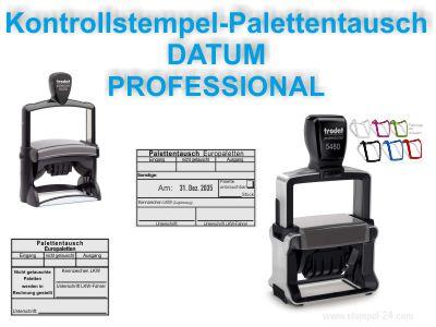 KONTROLL-STEMPEL PALETTENTAUSCH WARENAUSGANG PROFESSIONAL DATUM