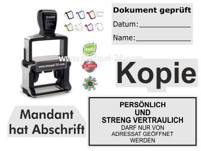 VORLAGEN-STEMPEL BÜRO / KANZLEI TRODAT PROFESSIONAL
