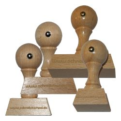 Holzstempel 25 mm • bis 100 mm Breite individuell gestalten