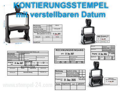 Professional Kontierungsstempel mit verstellbaren Datum