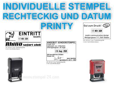 DATUMSTEMPEL INDIVIDUELL RECHTECKIG PRINTY
