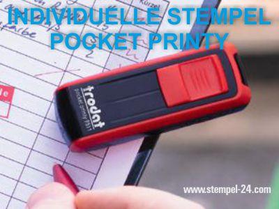 TEXTSTEMPEL INDIVIDUELL GESTALTEN POCKET PRINTY