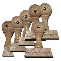 Holzstempel 15 mm • bis 60 mm Breite individuell gestalten