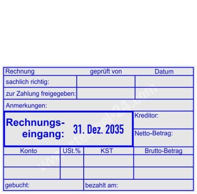 Stempel Rechnungseingang-Zahlung geprüft-Kreditor-Netto/Betrag-Konto-Kostenstelle • Trodat Professional 54110 •