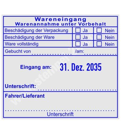 Stempel Warenannahme unter Vorbehalt Fahrer/Lieferant • Trodat Professional 54110 •