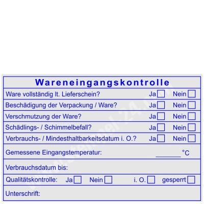 Stempel Wareneingangskontrolle Mindesthaltbarkeit Verbrauchsdatum bis • Trodat Professional 5212 •