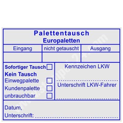 Stempel Palettentausch Europalette • Trodat Professional 5211 •