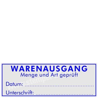 Stempel Warenausgang Menge Art geprüft • Trodat Printy 4915 •