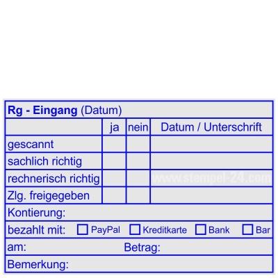 Buchungsstempel Rechnungs-Eingang • Trodat Professional 5211 •