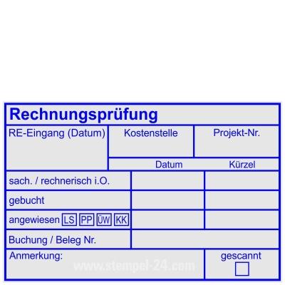 Stempel Rechnungsprüfung Rechnungseingang Kostenstelle Projektnummer angewiesen Lastschrift PayPal Überweisung Kreditkarte Buchung Belegnummer • Trodat Professional 5211 •