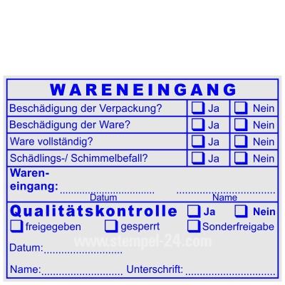 Stempel Wareneingangskontrolle Qualitätskontrolle Schimmelbefall Sonderfreigabe • Trodat Professional 5211 •