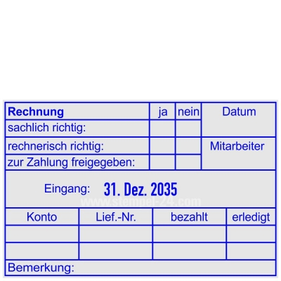Rechnung zur Zahlung freigegeben Datum • Trodat Professional 54110 •