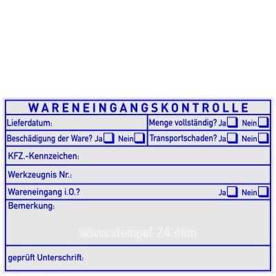 Stempel Wareneingangskontrolle DIN ISO • Trodat Professional 5211 •