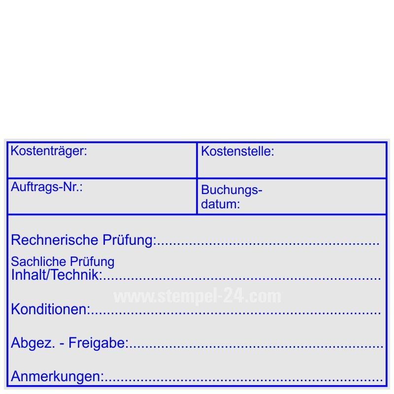 Stempel « WARENEINGANGSPRÜFUNG » Prüfung Buchungsstempel Kontierungsstempel Büro