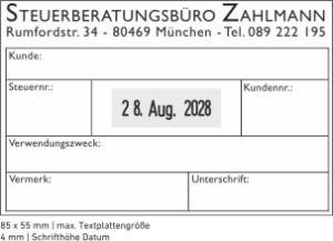 Trodat Professional 54110 Datumstempel mit individueller Stempelplatte max. 85 x 55 mm