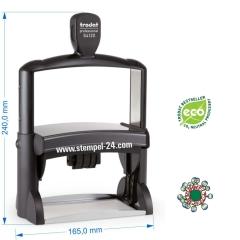 Trodat Professional 54120 Stempel mit Datum mittig und individueller Stempelplatte max. 116 x 70 mm