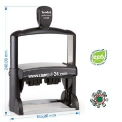 Trodat Professional 54126  Stempel mit Doppeldatum und individueller Stempelplatte max. 116 x 70 mm