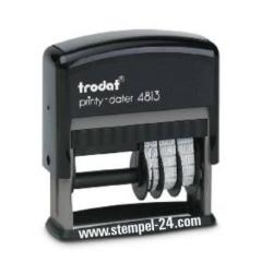 Trodat Printy 4813 Stempel mit verstellbaren Datum Rechts und individueller Stempelplatte 26 x 9 mm