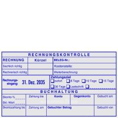 Kontierungsstempel Rechnungseingang Rechnungskontrolle Datum Links