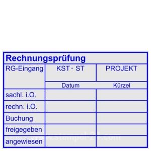 Stempel Rechnungsprüfung Buchung Kostenstelle Projekt • Trodat Professional 5274 •