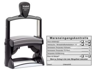 Stempel Wareneingangskontrolle Kühlware • Trodat Professional 5211 •
