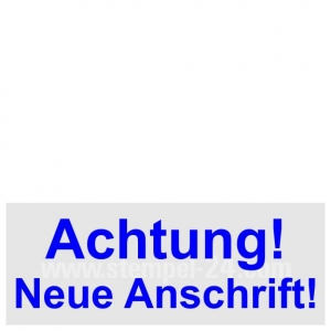 Stempel Trodat Printy Achtung Neue Anschrift! • Trodat Printy 4912 •