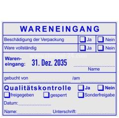 Stempel Wareneingang Qualitaetskontrolle freigegeben gesperrt Sonderfreigabe • Trodat Professional 54120 •