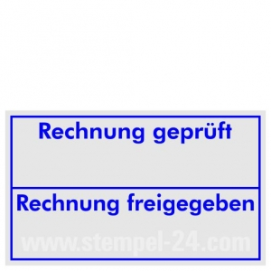 Stempel Rechnung geprüft • Trodat Professional 5200 •