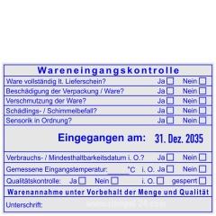 Stempel Wareneingangskontrolle Qualität Eingangstemperatur • Trodat Professional 54120R •