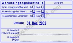 Stempel Wareneingangskontrolle Vermerk • Trodat Professional 54110 •
