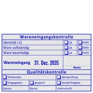Stempel Wareneingangskontrolle Identprüfung • Trodat Professional 54110 •