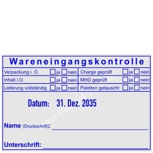 Stempel Wareneingangskontrolle ISO • Trodat Professional 54110 •