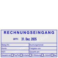 Stempel Buchungsstempel Rechnungseingang am • Trodat Professional 54110 •