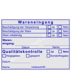 Wareneingangsstempel Qualitaetskontrolle Sonderfreigabe • Trodat Professional 5211 •