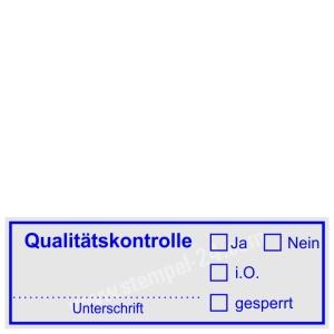 Stempel Qualitätskontrolle • Trodat Printy 4913 •