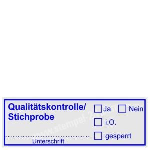 Stempel Qualitätskontrolle Stichprobe • Trodat Printy 4913 •