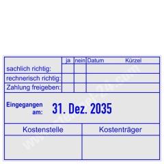 Stempel Rechnung Kostenstelle Kostenträger • Trodat Professional 5474 •