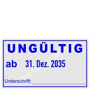 Stempel ungültig ab Unterschrift • Trodat Professional 5440 •