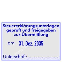 Stempel Steuererklärungsunterlagen geprüft • Trodat Professional 5474 •